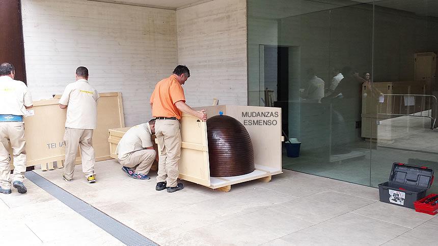 Antes de realizar el transporte es muy importante el embalaje. Obras de Arte.